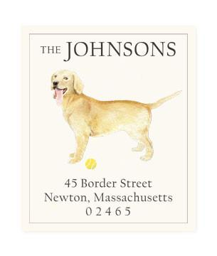 Custom Address Stickers - Yellow Lab