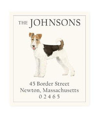 Custom Address Stickers - Fox Terrier