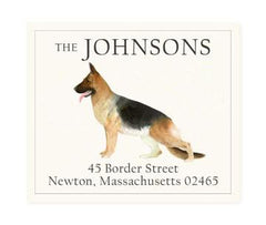 Custom Address Stickers - German Shepherd