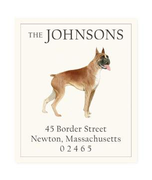 Custom Address Stickers - Boxer Bulldog