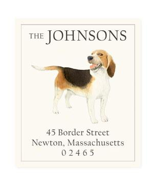 Custom Address Stickers - Beagle