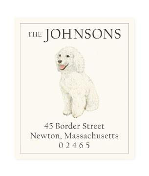 Custom Address Stickers - Poodle