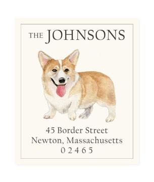 Custom Address Stickers - Pembroke Welsh Corgi