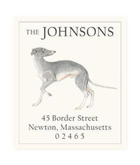 Custom Address Stickers - Italian Greyhound