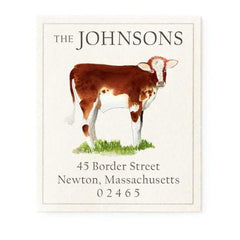 Custom Address Stickers - Brown Calf