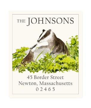 Custom Address Stickers - Badger Lesson