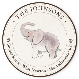Custom Address Stickers - Baby Elephant