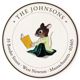 Custom Address Stickers - Reading Mouse