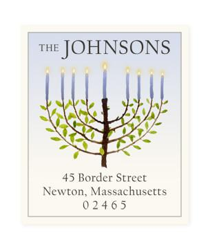 Custom Address Stickers - Hanukkah Lights (2 Styles Available)