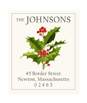 Custom Address Stickers - Holly Berries