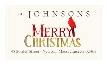 Custom Address Stickers - Merry Merry (2 Styles Available)