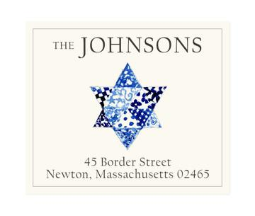 Custom Address Stickers - Quilted Star