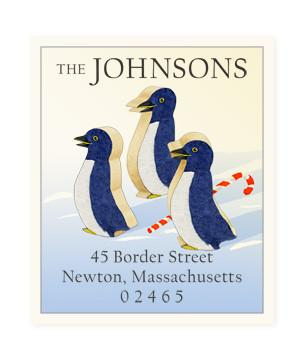 Custom Address Stickers - Three Wise Penguins