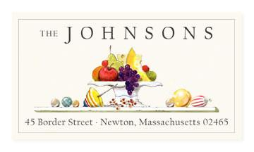 Custom Address Stickers - Holiday Fruit