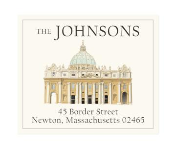Custom Address Stickers - From Rome with Love