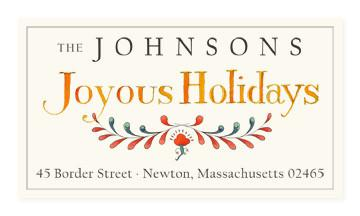 Custom Address Stickers - Joyous Holidays (2 Styles Available)
