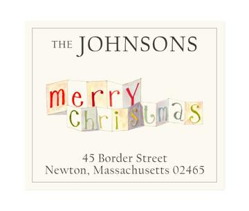 Custom Address Stickers - Merry Christmas (2 Styles Available)