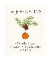Custom Address Stickers - Ornament with Pinecone