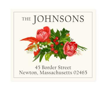 Custom Address Stickers - Holiday Arrangement
