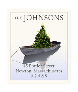 Custom Address Stickers - Holiday Dinghy