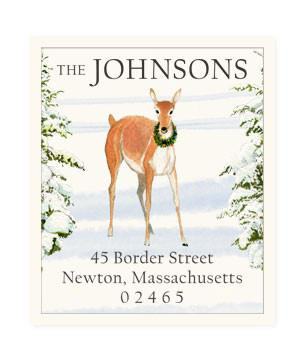 Custom Address Stickers - Deer and Wreath