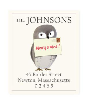 Custom Address Stickers - Merry Xmas