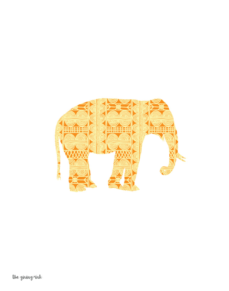 African Elephant Downloadable Print