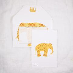African Elephant Silhouette Greeting Card