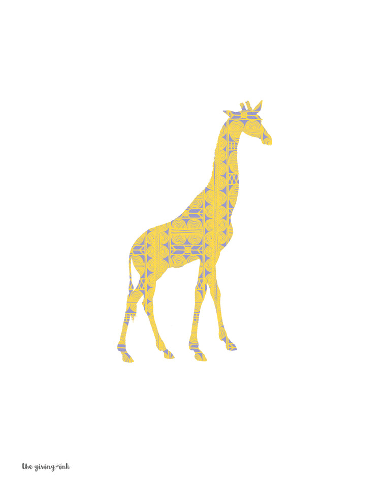 African Giraffe Downloadable Print