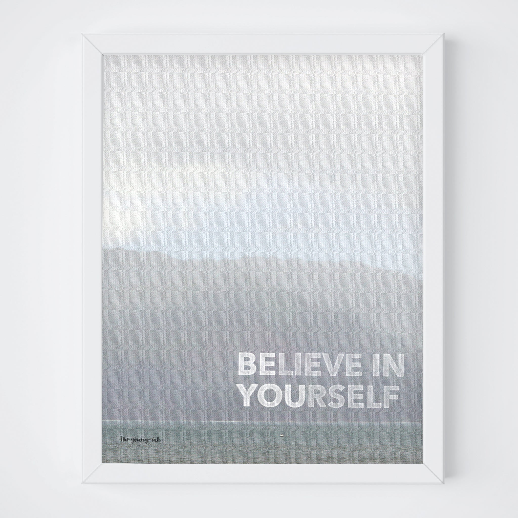 Ocean Believe in Yourself (Be You) Print