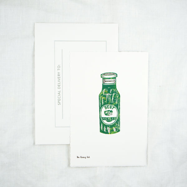 Silhouette Pickles Greeting Card