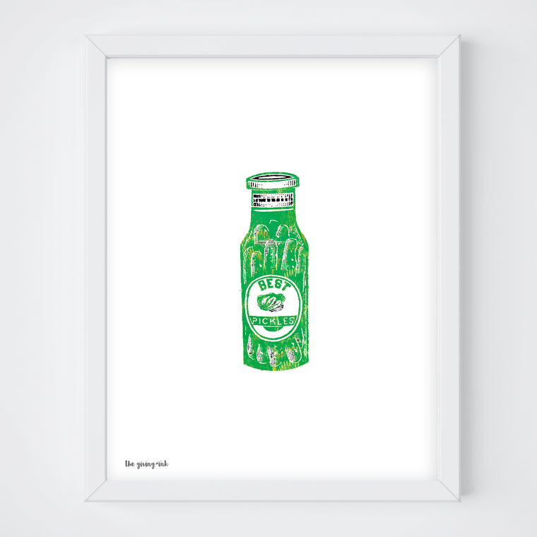 Best Pickles Italian Paper Print