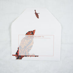 Silhouette Blackbird Greeting Card