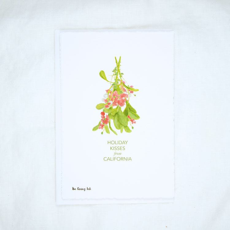 Bougainvillea Mistletoe California Greeting Card