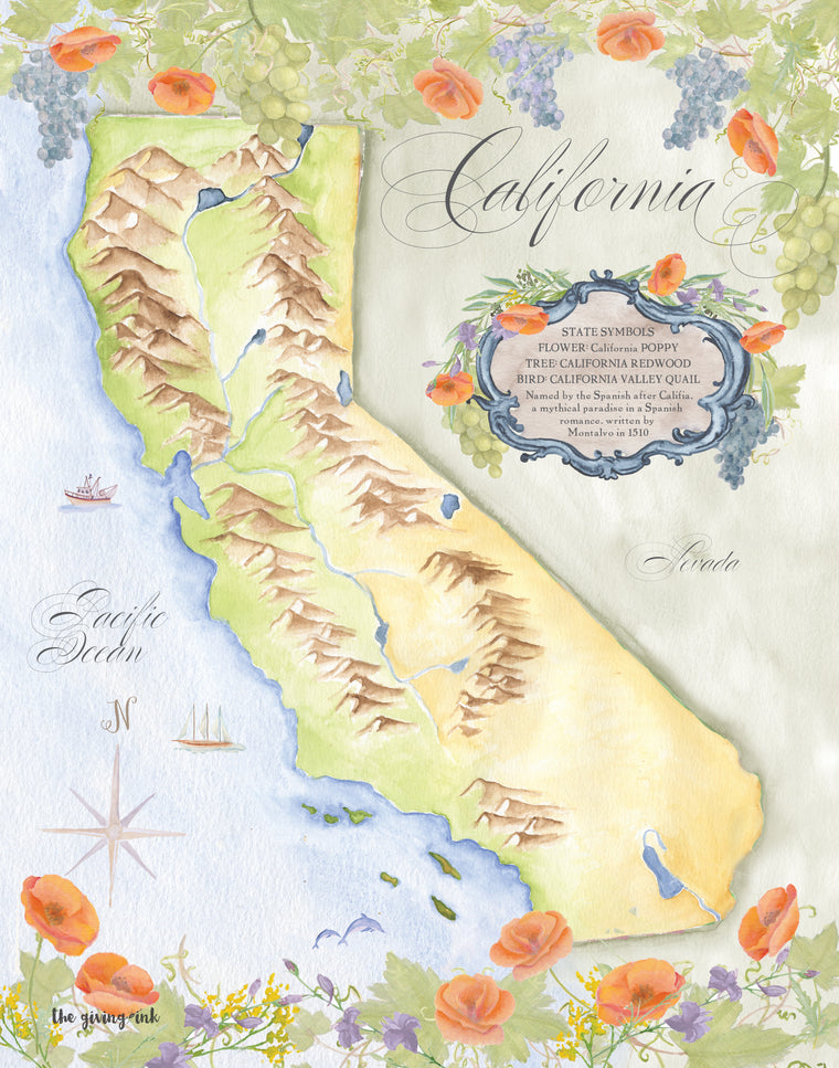 California Map Downloadable Print