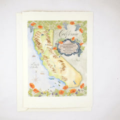 California Map Keepsake Card