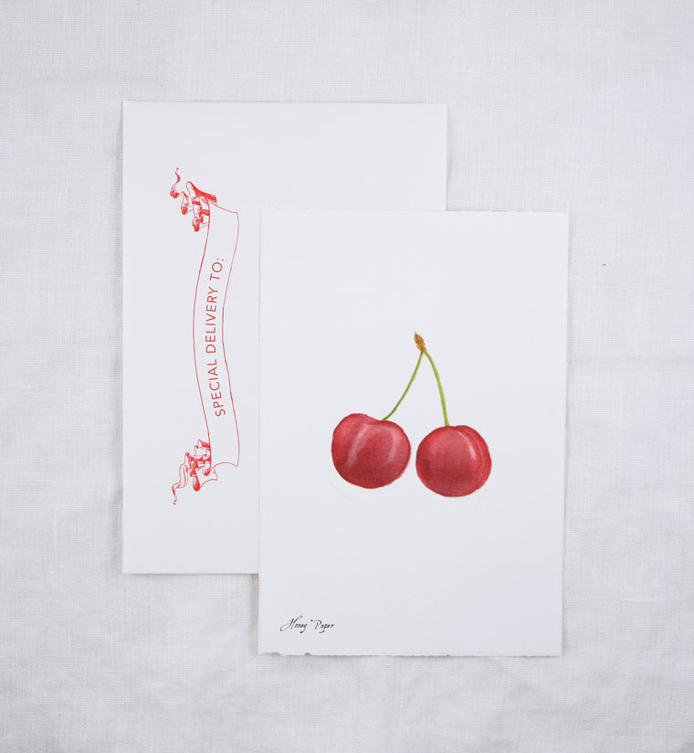 Cherries Greeting Card and Notecard Sets
