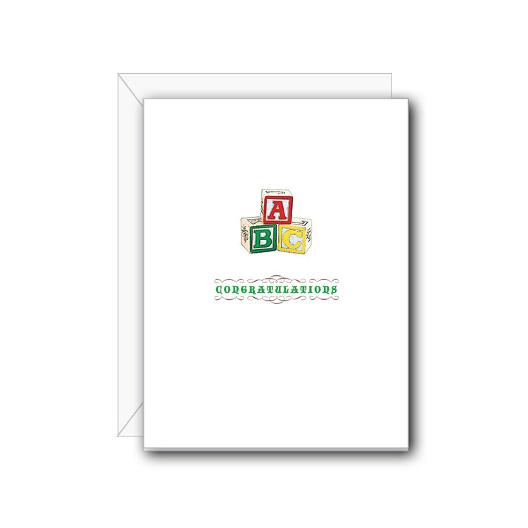 Baby Congratulations Greeting Card - NOW 40% OFF