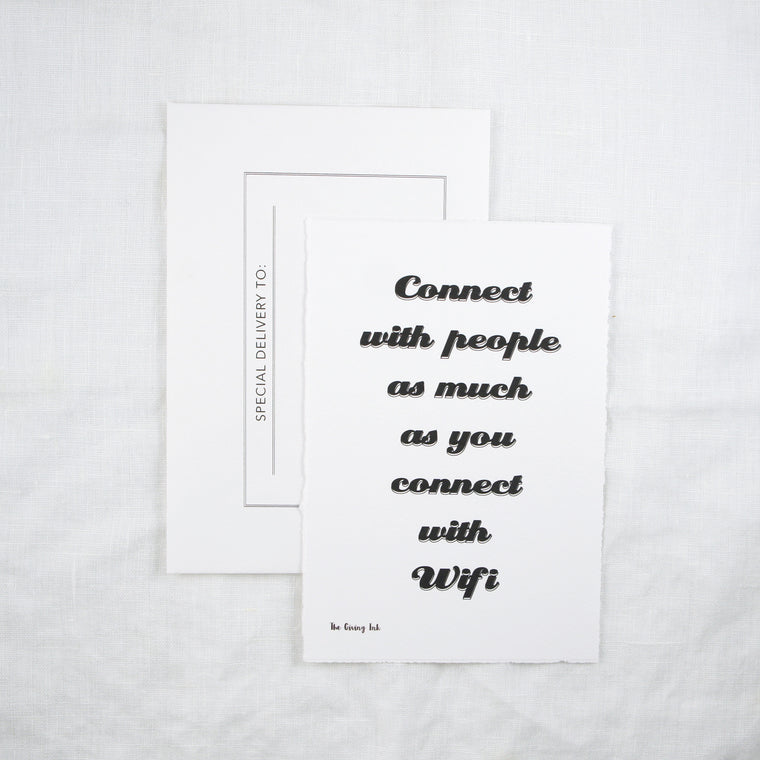 People not WIFI Greeting Card