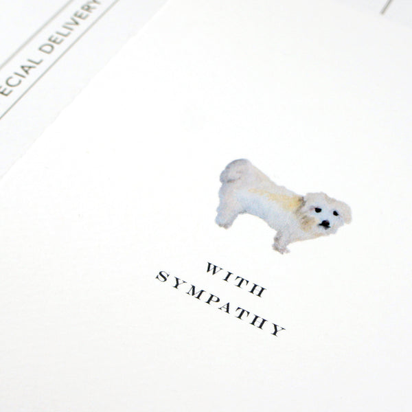 Dog Sympathy Greeting Card
