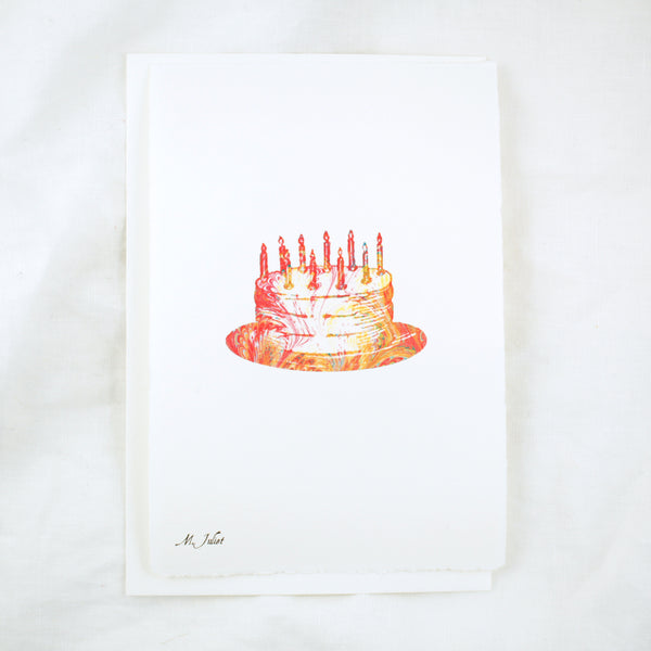 Silhouette Birthday Cake Greeting Card