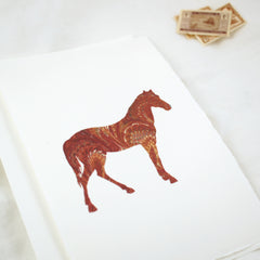 Silhouette Horse Brown