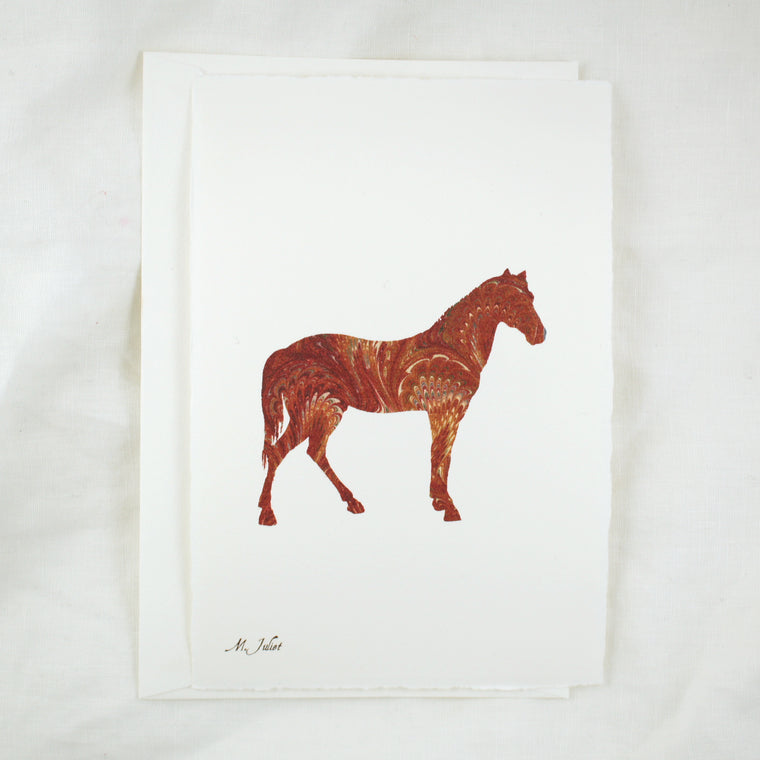 Honey Paper Silhouette Horse Brown