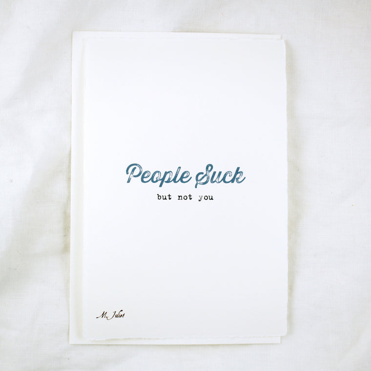 Words: People Suck