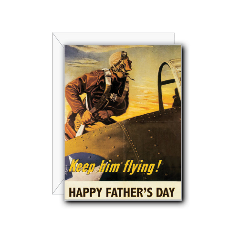 Father's Day Flying Greeting Card