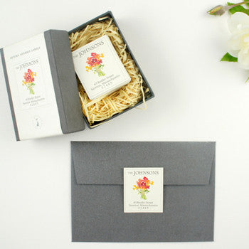 Custom Address Stickers - Peony Box