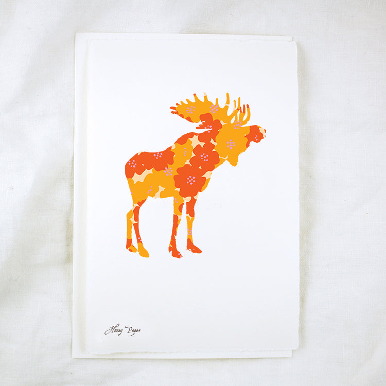 Silhouette Floral Moose