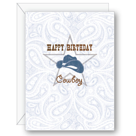 Happy Birthday Cowboy Greeting Card