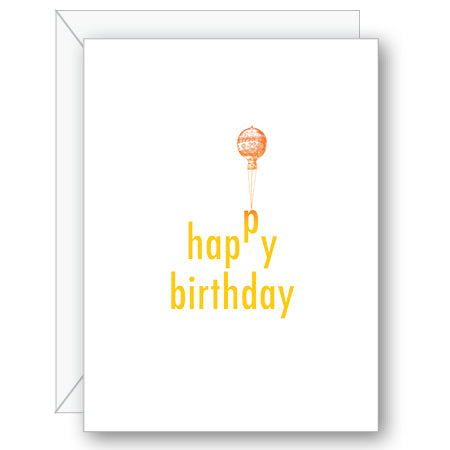 Birthday Balloon Greeting Card - NOW 40% OFF