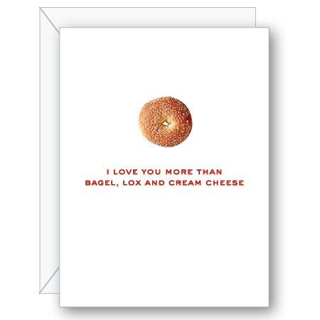 Bagel, Lox and Cream Cheese Greeting Card